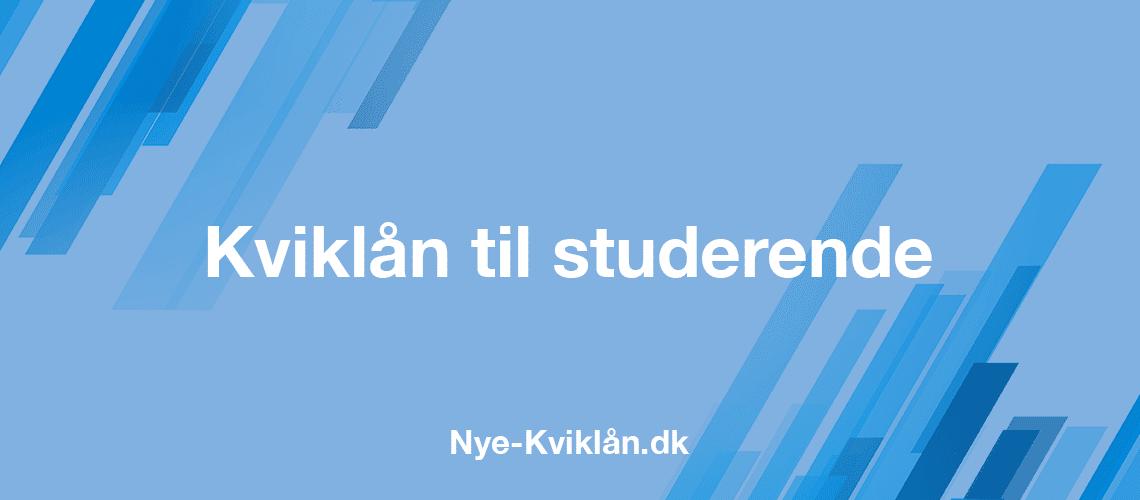 Kviklån til studerende